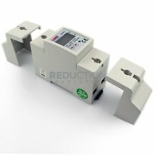 Single Phase Power kWh Electricity Energy Sub Meter (80 Amp) DIN Rail Mount