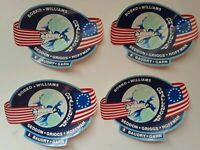 Challenger Shuttle (Lot Set of 4 Sticker) Space Astronauts NASA Vtg Crew Members