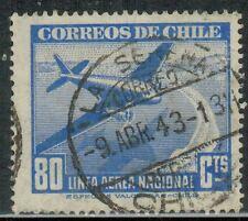 Chile 1943 Postmark La Serena  (A-208)