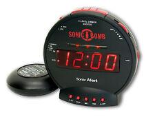 Dual Alarm Clock  Sonic Alert Bomb Loud W/Bed Shaker Digital Electronics