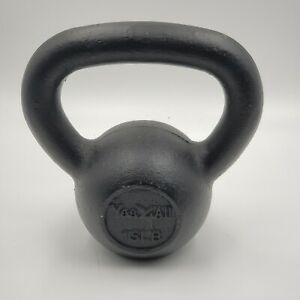 Yes4All 15LB Black Cast iron Kettlebell  New