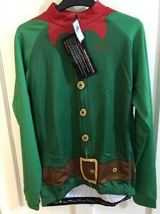 Scimitar Sports Christmas Santa/Elf Bicycle fleece Jersey Xmas Present