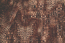 Animal Print Stretch Fabric Poly Rayon Warm Brown Apparel     BFab