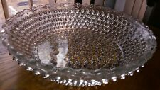 Pointed Hobnail Berry Serving Bowl Ornamental Banded by Columbia Glass