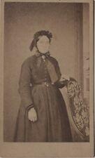 Mme Berton Vendeuvre-sur-Barse Photographie Cdv Vintage Albumine