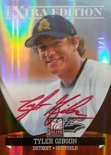 2011 Elite Extra Edition Tyler Gibson Red Ink Auto Card #1/1 Detroit Tigers