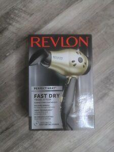 Revlon RVDR5005 Perfect Heat Fast Dry Travel Styler, 1875 Watt, Folding