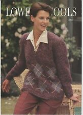LADY'S 12 PLY V-NECK SWEATER optional Argyle Pattern