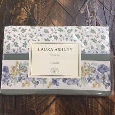NEW VTG Laura Ashley Josephine Floral Twin Flat Sheet NWT