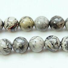 60 Stück / Strang Jaspis Naturstein Perlen von Bastelconcepte