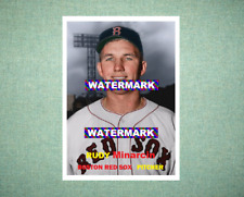 Rudy Minarcin Boston Red Sox 1957 Style Custom Art Card