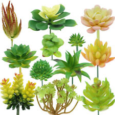 12 Pcs Garden Fake Succulents Artificial Plant Floral Home DIY Wedding Decor