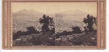 N. 95. Napoli da sopra la strada nuova, stereoview by photographer Robert Rive,