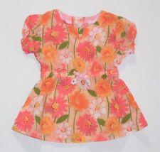 Hopscotch Bright Floral Peach Short Sleeve Top, 24 mos.