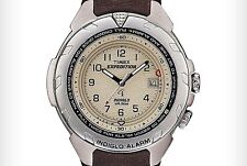 $57.95 Timex Men's Expedition Alarm Leather Watch T47902 DISPLAY ITEM