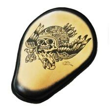 Spring Solo Seat Chopper Harley Sportster 10x13 Eagle Skull Tattoo Leather Blk F