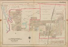 1913 G.W. BROMLEY DUMONT BERGENFIELDS DELFORD BERGEN COUNTY NEW JERSEY ATLAS MAP