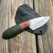 Custom Handmade EDC Knife, AEB-L @ 61 HRC, Micarta, Kydex Sheath, Marauder, USA