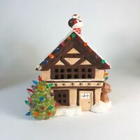 "Vintage ceramic Christmas house 10"" x 9"" x 8"""