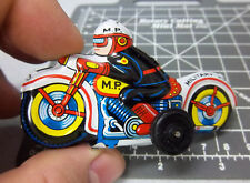 Vintage pull back Tin Toy Motorcycle Military Police, made in Japan, NEW!