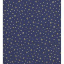 STARRY NIGHT GOLD FOIL STARS ON DARK NAVY GIFT TISSUE PAPER-20 Large Sheets