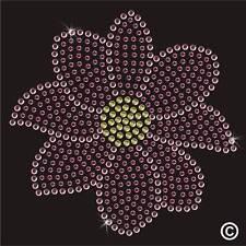 Fleurs strass strass thermocollants hotfix transfert tshirt motif appliqué