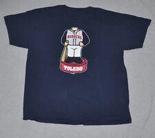 TOLEDO MUD HENS Minor League Baseball T-Shirt Men's XL X-LARGE Navy Bobblehead