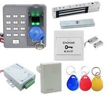 Fingerprint 125khz RFID Card Access Control & Door Lock Entry Kit Magnetic Lock