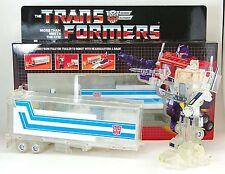 Transformers AUTOBOT Optimus Prime G1 Reissue Tractor camión Robot Transparente