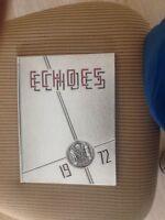 YEARBOOK HAMBURG NY 1972 HIGH SCHOOL MEMORIES (ECHOES)