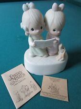 """PRECIOUS MOMENTS MUSIC BOX """"WISHING YOU A  MERRY CHRISTMAS"""" NIB, WITH CERTS"""