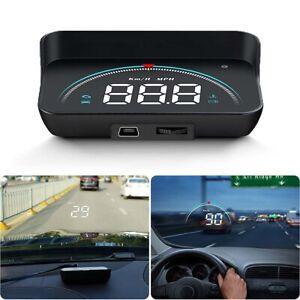 Auto OBD2 Modell HUD Head up Display GPS Tachometer Geschwindigkeitswarnung DE