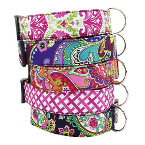Fashion Wide Fabric Dog Collar for Small Large Dogs Quick Fit Adjustable Collar