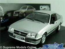 OPEL MONZA MODEL CAR 1:43 SCALE SILVER IXO COLLECTION VAUXHALL ROYALE K8