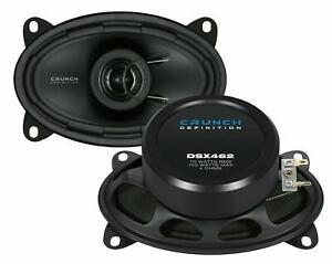 "Crunch DSX-462 4x6 "" Coax Car Speaker Set Oval Pair for Porsche VW Fiat New"