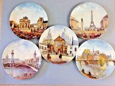 5 Limoges, France Porcelain Collector Plates of Paris - No Coa's or Boxes