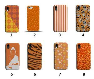 Orange Phone Case Cover And Black & Stripes Tiger Print Skin Buddha Beans 8131
