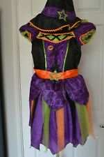 TU Girl's Age 7-8 Halloween Witch Dressing Up Costume with Hat