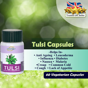 Holy Basil tulsi Extract Capsule Anti stress Anti ageing Natural Herbs