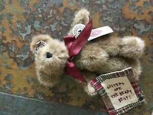 "Boyd's  Bear Collection LTD   TJ's Best Dressed Brown Bear 7"" Sessy B. Bear"