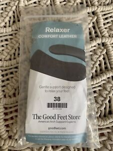 The Good Feet Store Relaxer Comfort Leather 38 Insert Insoles NIP
