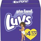 LUVS Diapers Size 4 , 172 Count - Luvs Ultra Leakguards Disposable Baby Diapers