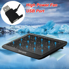 "USB Port Quiet Gaming Laptop Cooling Cooler Pad Mat Stand Fan 10""-17"" Holder CA"