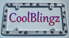 NEW! Dog Cat Pet Animal PAW PRINTS License Plate Frame for Car Truck Automobile