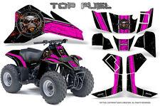 SUZUKI LT 80 LTZ80 ATV CREATORX GRAPHICS KIT DECALS TOP FUEL PINK BLACK
