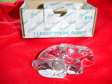 PRINCESS HOUSE LEAD CRYSTAL RABBIT #814 BRAND NEW IN BOX FREE USA SHIPPING