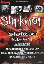 "SLIPKNOT / STATIC X / MUDVAYNE TOUR POSTER / KONZERTPLAKAT ""IOWA TOUR 2001"""