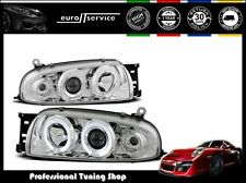 FARI ANTERIORI HEADLIGHTS LPFO07 FORD FIESTA MK4 1995-1997 1998 1999 ANGEL EYES