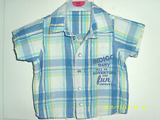 boys marks aand spencers checked shirt aged 12/18 months
