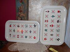 14 x 8.5 Vintage Set Metal Kitchen Trays Retro Weather vane Grinder Old Items